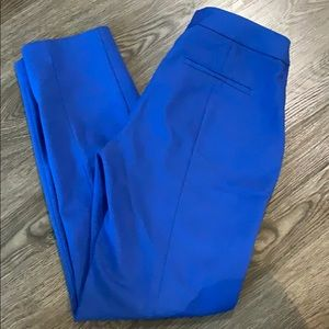 Express columnist ankle pant in blue, size 4!